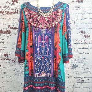 FLYING TOMATO Boho Tunic Dress - Women's M